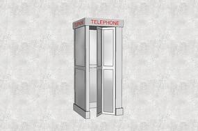白色现代电话亭