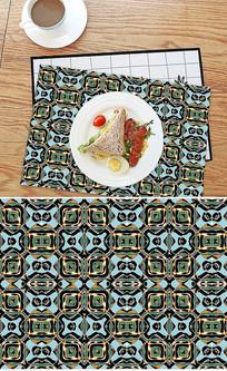 北欧3D晶石抽象餐垫桌布