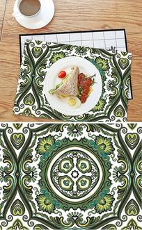 北欧抽象花纹图案餐垫餐桌布