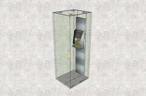 玻璃电话亭