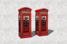 复古电话亭组合