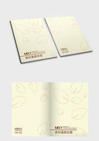黄色叶子花纹封面设计