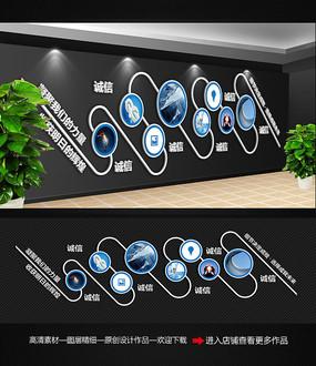 简约企业文化墙