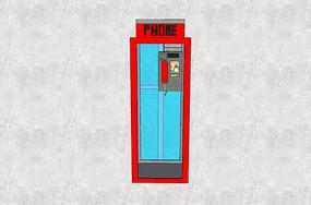 街边半封闭电话亭