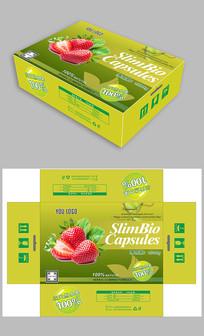 绿色草莓包装