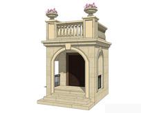 欧式别墅入口模型