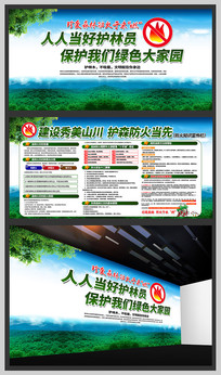 森林防火公益宣传展板