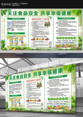 食品安全食品健康宣传栏展板