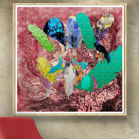 油彩抽象画纹理素材 PSD
