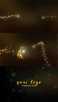唯美金色粒子梦幻穿梭AE片头模板