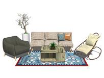 现代简约北欧风格的家具