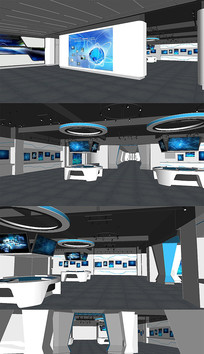 现代科技展厅、科幻馆模型