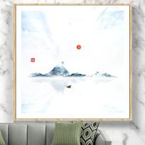 禅意山水画装饰画