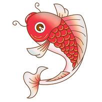 原创插画中国风鲤鱼