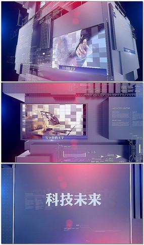 震撼3维科技展示模板