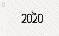 2020鼠年美术字体 EPS