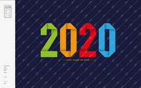 2020折纸鼠年字体
