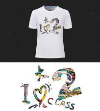 2班班服T恤图案创意设计模板