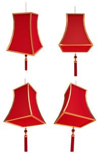 春节红灯笼中式素材