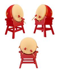 春节红色大鼓元素设计