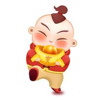 春节娃娃原创插画设计