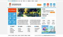 简约税务局网站首页模板 PSD