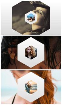 几何图形展示片头logoae模板