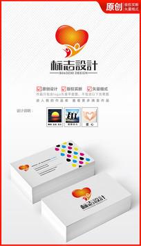 激情红心logo设计