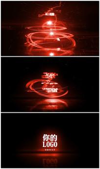 科技光效光线LOGO展示模板