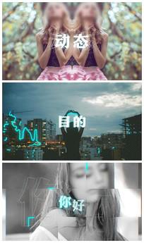 科技霓虹灯涂鸦效果展示图文模板