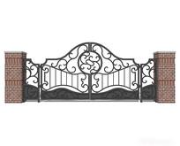欧式花纹铁质庭院门
