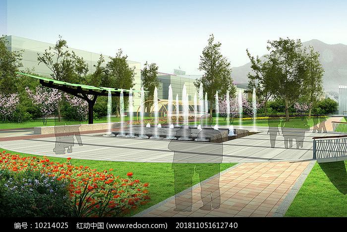 喷泉小品效果图图片