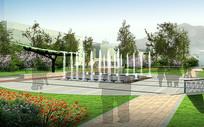 喷泉小品效果图 JPG