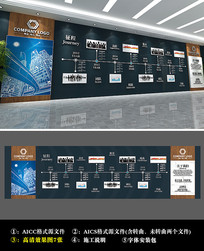 中式风格企业历程文化墙