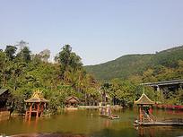 中式亭子建筑景观游乐设施