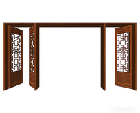 组合多开中式木门