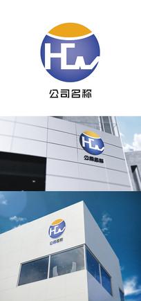 HCW字母组合logo