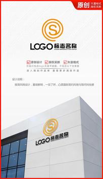 科技简约S字母logo设计商标标志设计