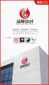 绿叶祥云logo设计商标设计标志 AI