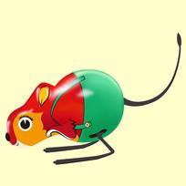 原创元素六一儿童节机械玩具袋鼠