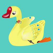 原创元素六一儿童节机械玩具鸟天鹅
