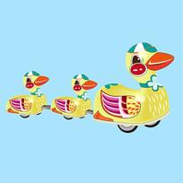 原创元素六一儿童节机械玩具鸟鸭子