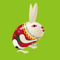 原创元素六一儿童节机械玩具兔子