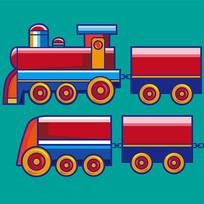 原创元素六一儿童节小火车