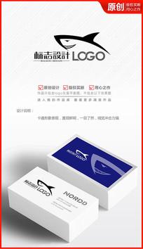 鲨鱼形象logo设计商标设计标志