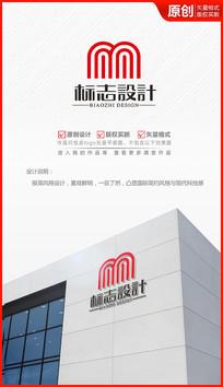 字母M字母N科技风格logo设计商标标志