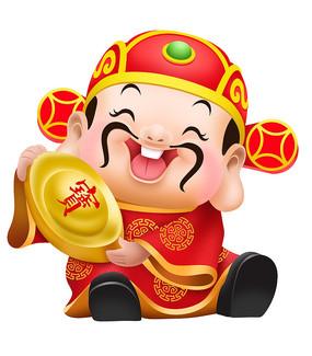 原创插画-财神爷春节素材卡通形象