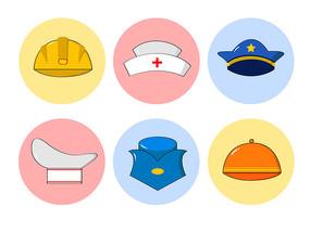 原创插画劳动节帽子扁平化元素