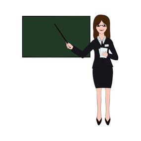 老师上课插画元素