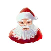 手绘圣诞老人元素